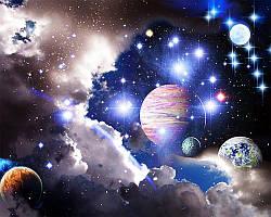 """Набор для рисования картин по номерам (раскраска) """"Вселенная - Космос"""""""