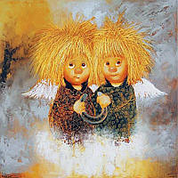 """Набор для рисования картин по номерам """"Рыжие Ангелы - Подкова счастья"""""""