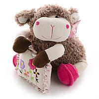 Мягкая игрушка овечка с подушкой  9 см IF78