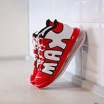 Мужские кроссовки Nike Air More Uptempo 720 University Red White Black CJ3662-600, фото 3