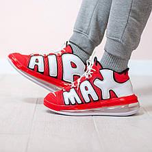 Мужские кроссовки Nike Air More Uptempo 720 University Red White Black CJ3662-600, фото 2