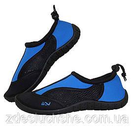 Обувь для пляжа и кораллов аквашузы SportVida Size 36 Black/Blue SKL41-277859