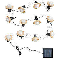 IKEA SOLVINDEN Світлодіодна гірлянда, 12 лампочками, відкритий сонячний / міні / бежевий (404.845.81)