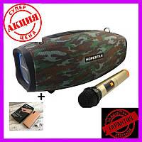 Портативная Bluetooth колонка Hopestar H1 Party+микрофон+блок питания 15V3A акустическая система с подсветкой