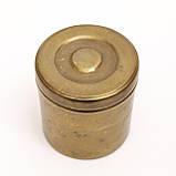 Старая шкатулка, банка для хранения,  Германия, бронза, фото 2