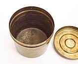 Старая шкатулка, банка для хранения,  Германия, бронза, фото 7