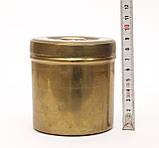 Старая шкатулка, банка для хранения,  Германия, бронза, фото 4
