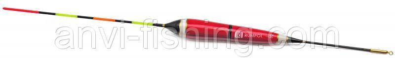 Поплавок бальзовый світиться Rumpol на батарейці - Червоний 38 см, 3 гр, синій