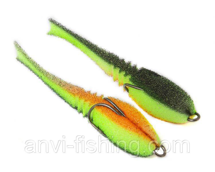 "Поролоновая рыбка-приманка ПрофМонтаж Dancing Fish 3,5"" (reverse tail) - PR802"