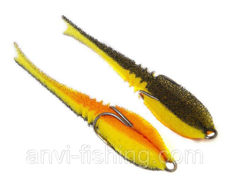 "Поролоновая рыбка-приманка ПрофМонтаж Dancing Fish 3,5"" (reverse tail) - PR803"