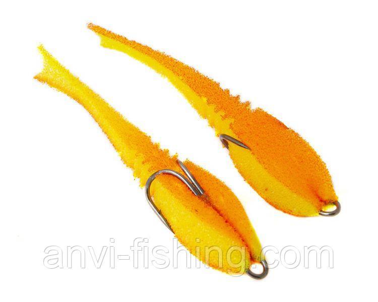 """Поролонова рибка-приманка ПрофМонтаж Dancing Fish 3,5"""" (reverse tail) - PR805"""