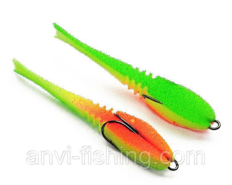 """Поролонова рибка-приманка ПрофМонтаж Dancing Fish 3,5"""" (reverse tail) - PR806"""