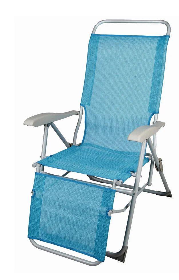Стул-кресло для пикника складной голубой BST 590360
