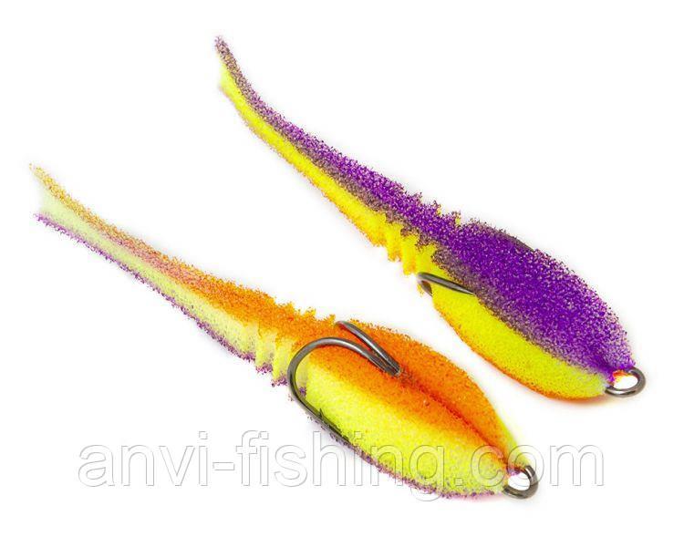 """Поролонова рибка-приманка ПрофМонтаж Dancing Fish 3,5"""" (reverse tail) - PR807"""