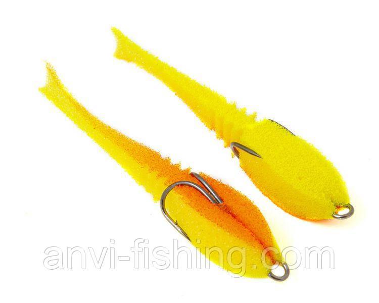 """Поролонова рибка-приманка ПрофМонтаж Dancing Fish 3,5"""" (reverse tail) - PR810"""