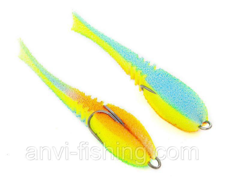 """Поролонова рибка-приманка ПрофМонтаж Dancing Fish 3,5"""" (reverse tail) - PR811"""