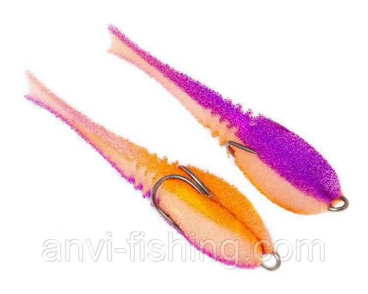 """Поролонова рибка-приманка ПрофМонтаж Dancing Fish 3,5"""" (reverse tail) - PR812"""