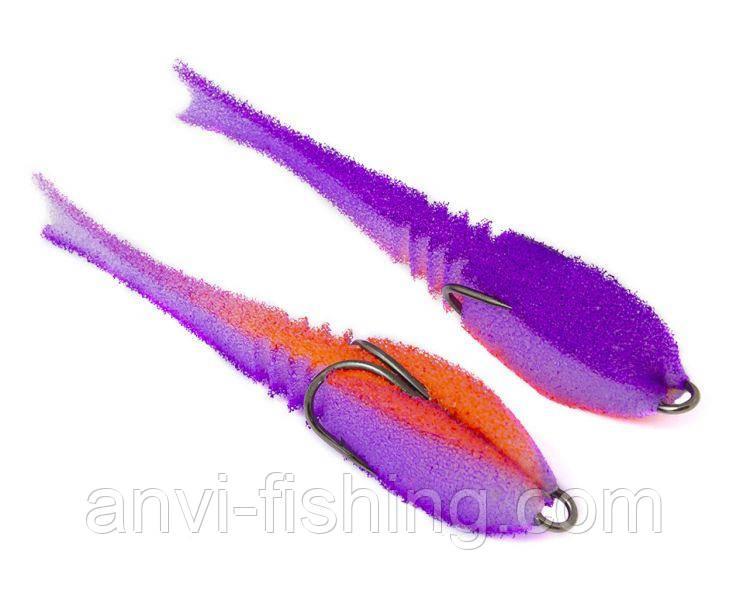 """Поролонова рибка-приманка ПрофМонтаж Dancing Fish 3,5"""" (reverse tail) - PR813"""
