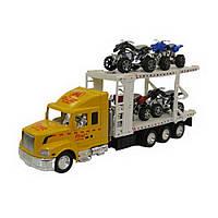 Игрушечный грузовик с платформой для перевозки машин IM77D