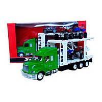 Игрушечный грузовик с платформой для перевозки техники IM80B