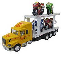 Игрушечный грузовой автомобиль для перевозки мотоциклов IM77C