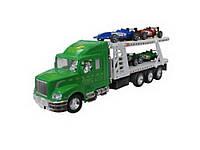 Игрушечный грузовой автомобиль с платформой для машинок IM76B