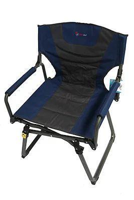 Стул складной для пикника серо-синий BST 590366
