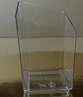 Креманка для десертов четырехугольная прозрачная (код 04538)