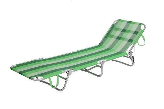 Раскладушка зеленая BST 590399