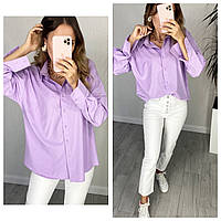 Женская стильная рубашка на пуговицах Батал, фото 1