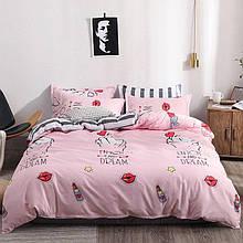 Полуторный евро комплект постельного белья с компаньоном S416