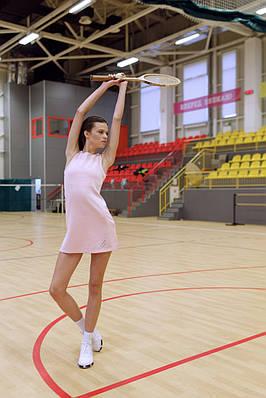 Сукня для тенісу No tie XS Пудрова