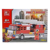 Детский конструктор (Пожарные) 190 блоков IM536