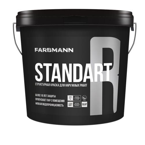 Структурная водно-дисперсионная краска для наружных работ STANDART R