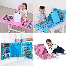 Набор для творчества 208 предметов, набор художника для творчества с мольбертом для детей рисования