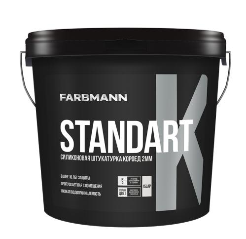 Декоративная силиконовая структурная штукатурка «короед» STANDART K