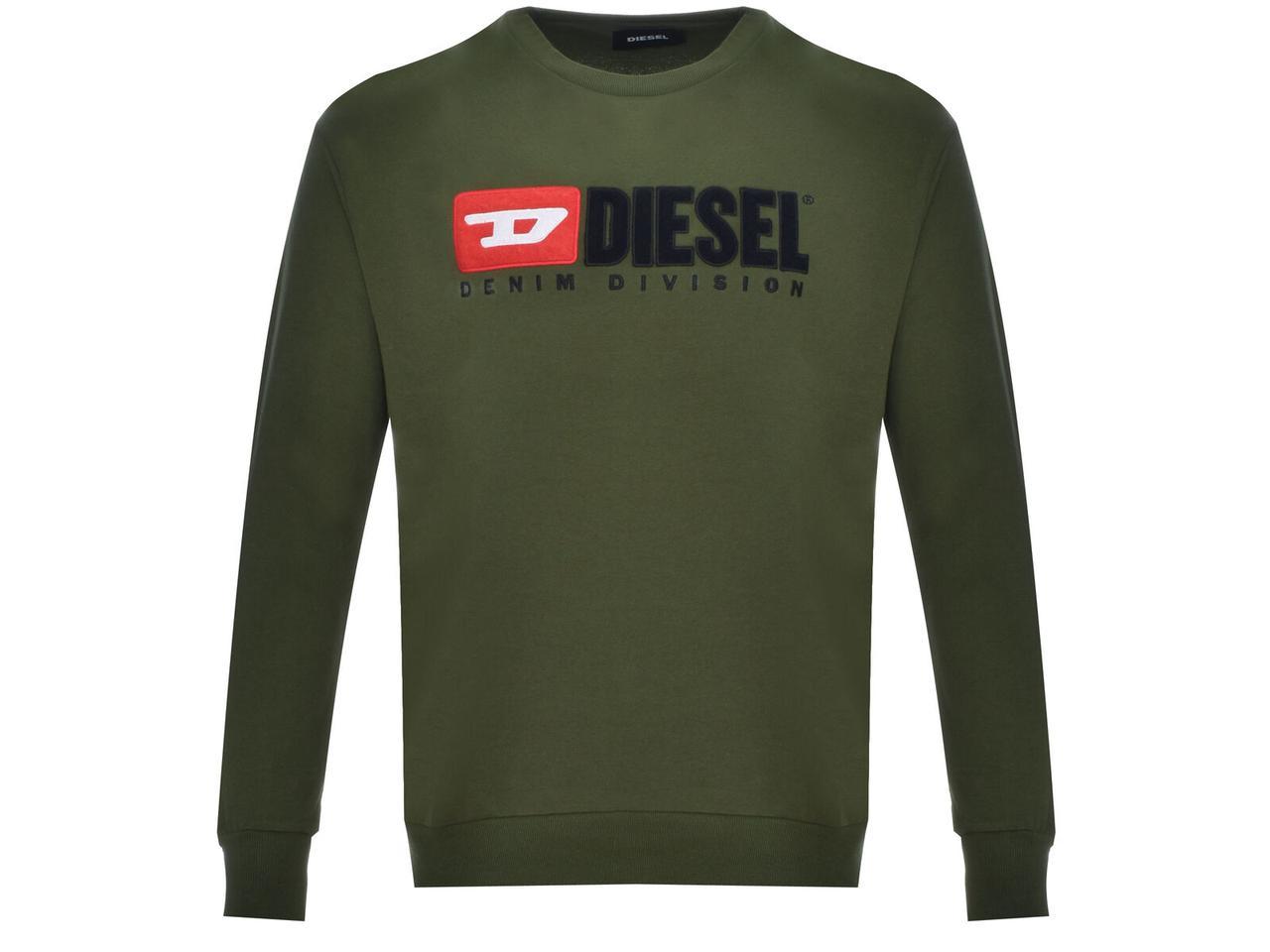 Толстовка мужская Diesel хаки (00SJGD-0CATK-5HS)