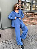 Жіночий прогулянковий костюм трока: штани, майка, сорочка 46-463, фото 6