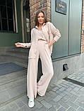 Жіночий прогулянковий костюм трока: штани, майка, сорочка 46-463, фото 5