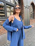 Жіночий прогулянковий костюм трока: штани, майка, сорочка 46-463, фото 8