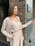 Жіночий прогулянковий костюм трока: штани, майка, сорочка 46-463, фото 9