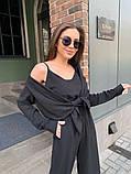 Жіночий прогулянковий костюм трока: штани, майка, сорочка 46-463, фото 10