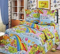 Детское постельное бельё полуторное бязь