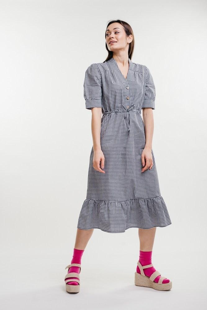 Жіноче плаття міді в клітку