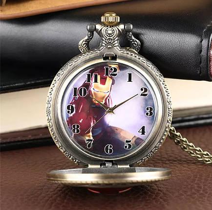 Чоловічі годинники кишенькові на ланцюжку Залізна людина, фото 2