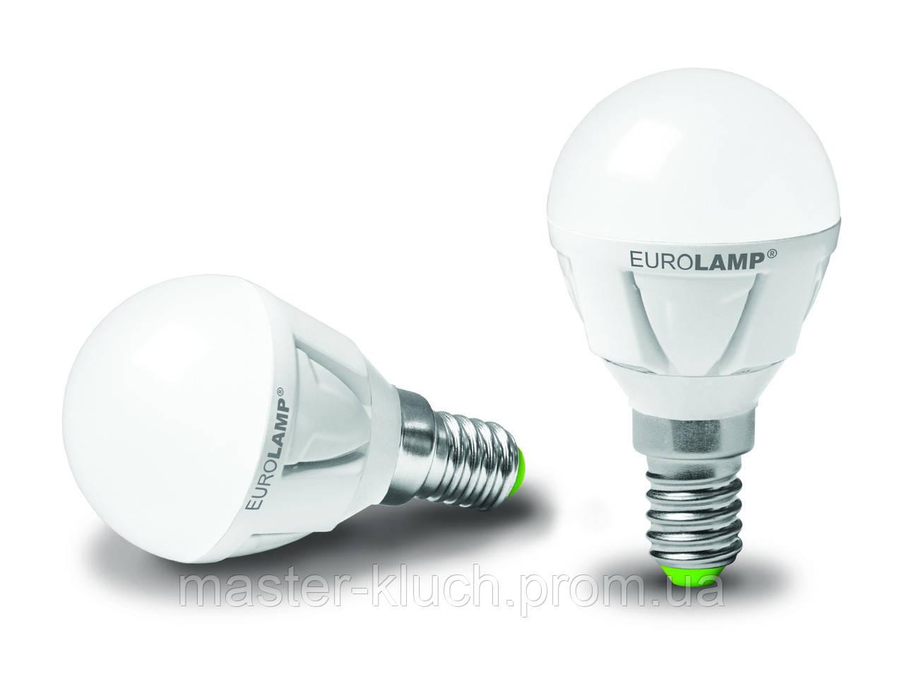 Светодиодная лампа Eurolamp LED TURBO G45 5W E14 4000К шарик