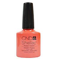 CND Shellac Desert Poppy / коралловый с шиммером, 7,3 мл