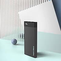 Зовнішній акумулятор АКБ (Power Bank) модель XO-PB68 13000 mAh (підтримка QC 3.0), чорний колір, фото 1