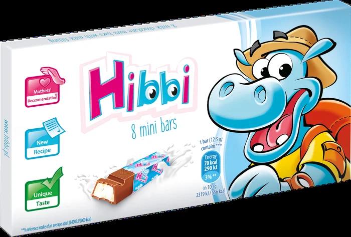 Шоколад Hibbi молочний з вершками 100 грам