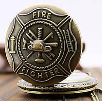 Часы карманные подарок пожарнику, фото 2